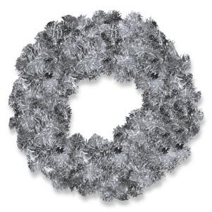Silver Tinsel Wreath