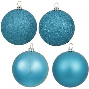 Teal Ornament 4-Pack