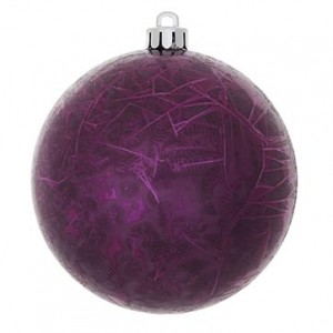 8-Inch Outdoor Crackle Christmas Ornament