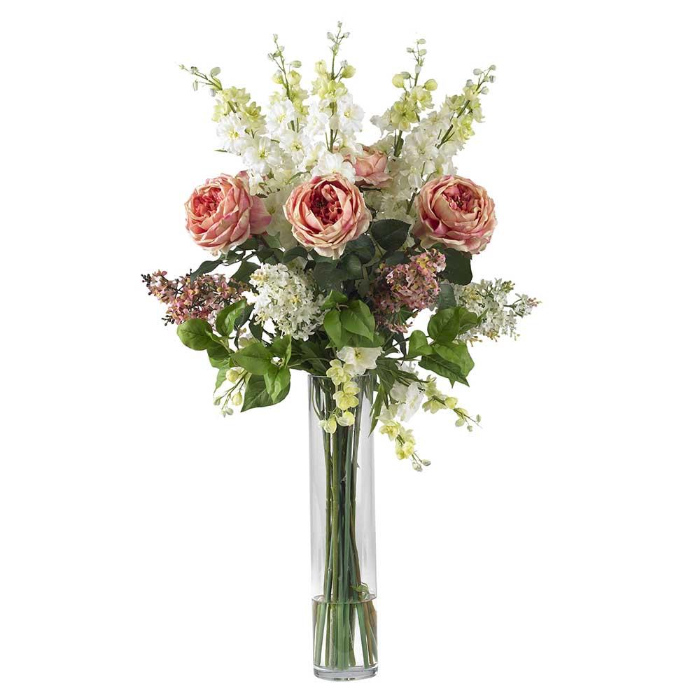 Rose Quartz Artificial Flower Arrangements