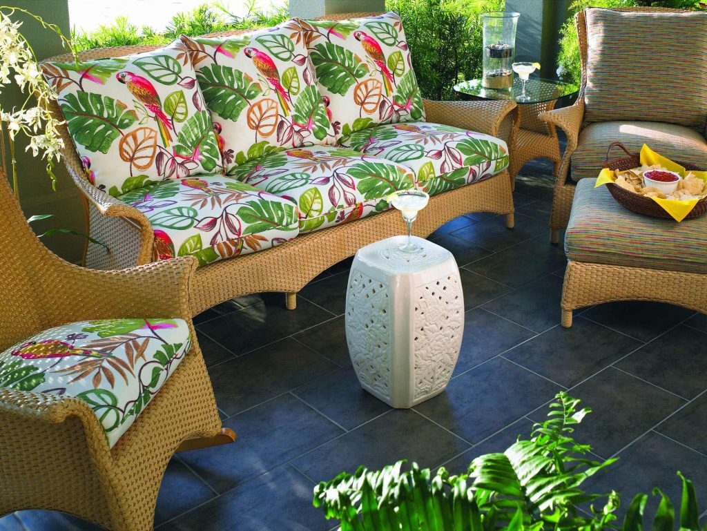 Wicker Outdoor Seating Area