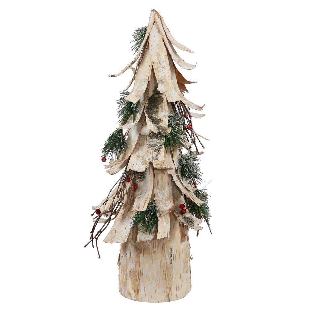 Birch Bark Cone Tree