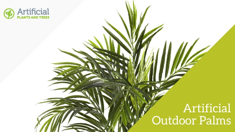 artificial outdoor palm trees