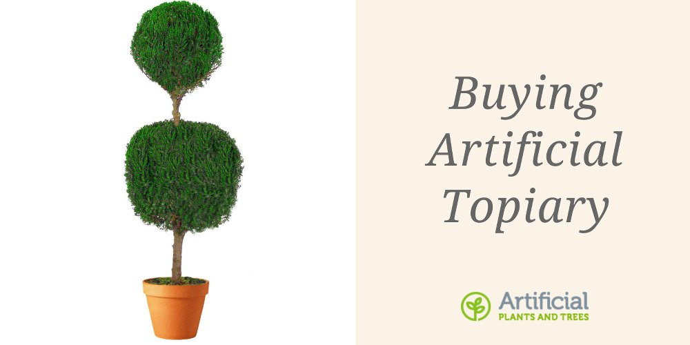 buying artificial topiary