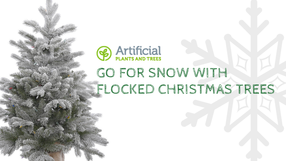 artificial flocked christmas trees