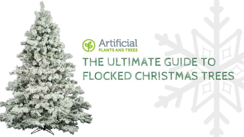 flocked christmas trees
