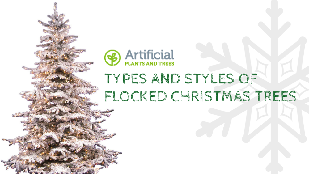 types of flocked christmas trees