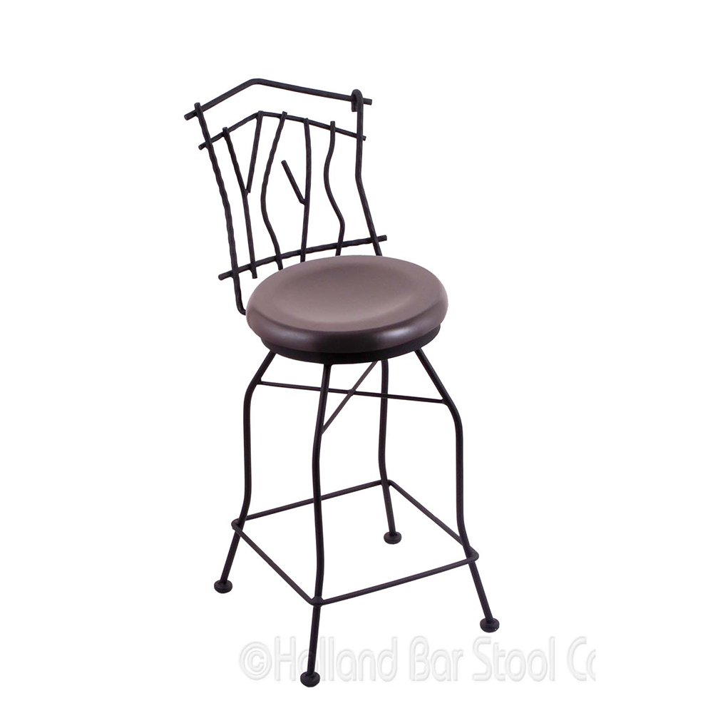 Excellent Inches Aspen Swivel Bar Stool Wood Seat Product Photo