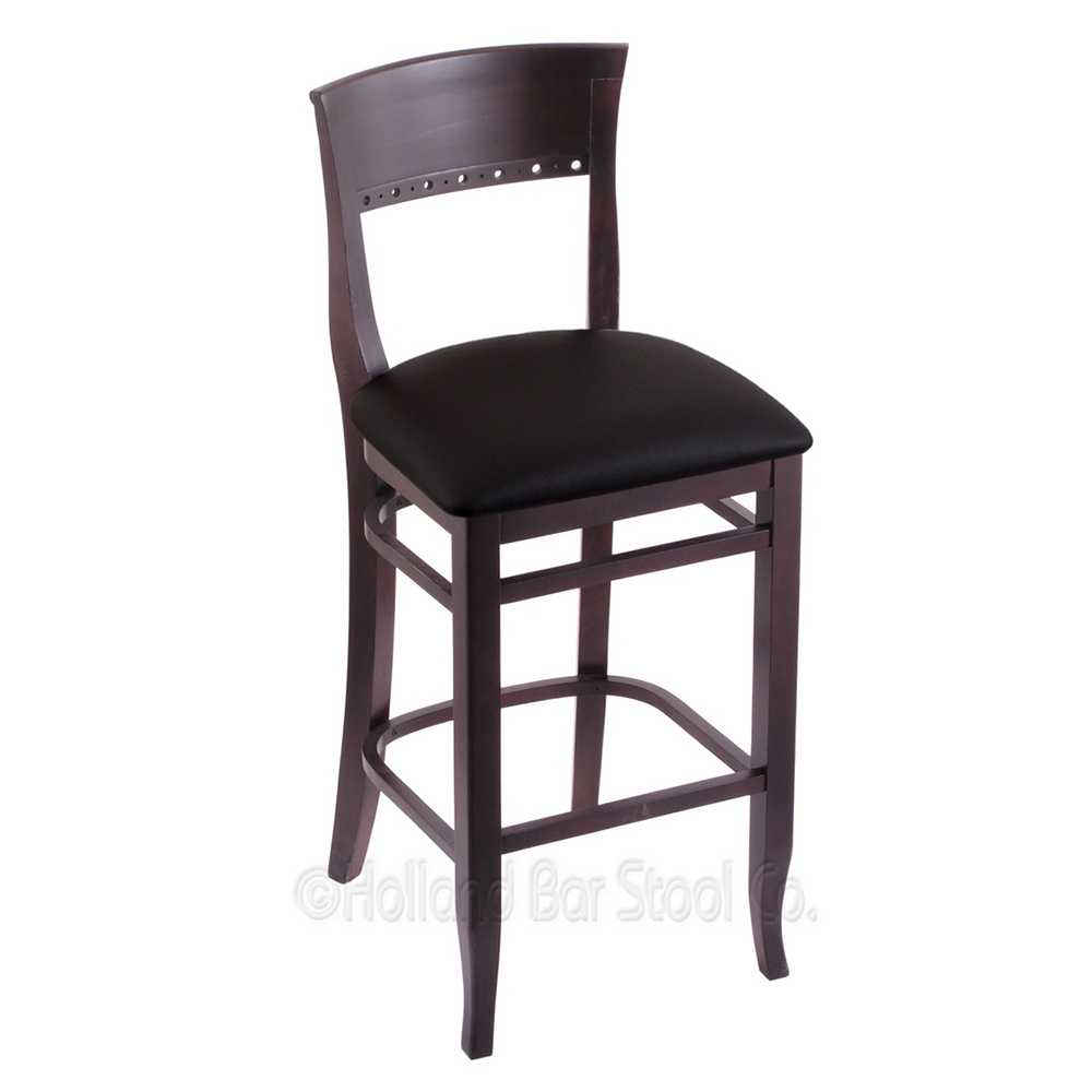 Info about Stationary Wood Frame Counter Stool Cushion Product Photo