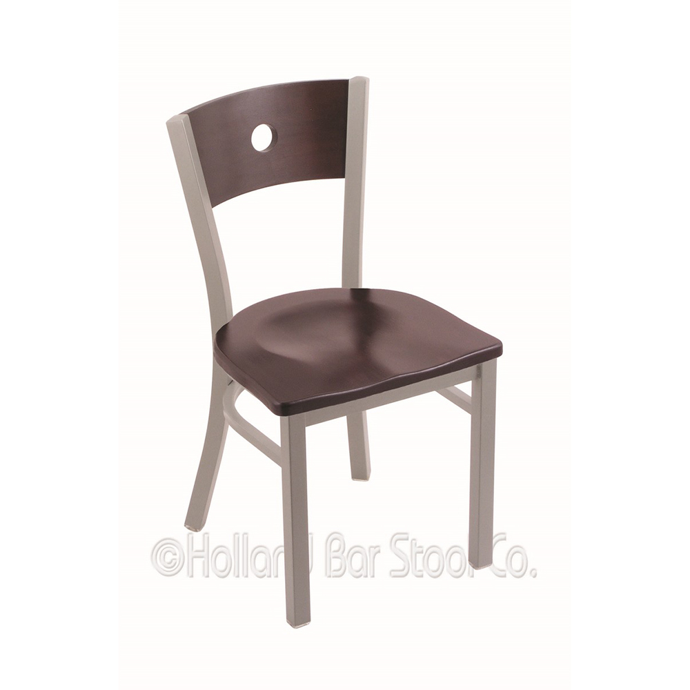 18 Inch 630 Voltaire Dining Chair With Wood Seat