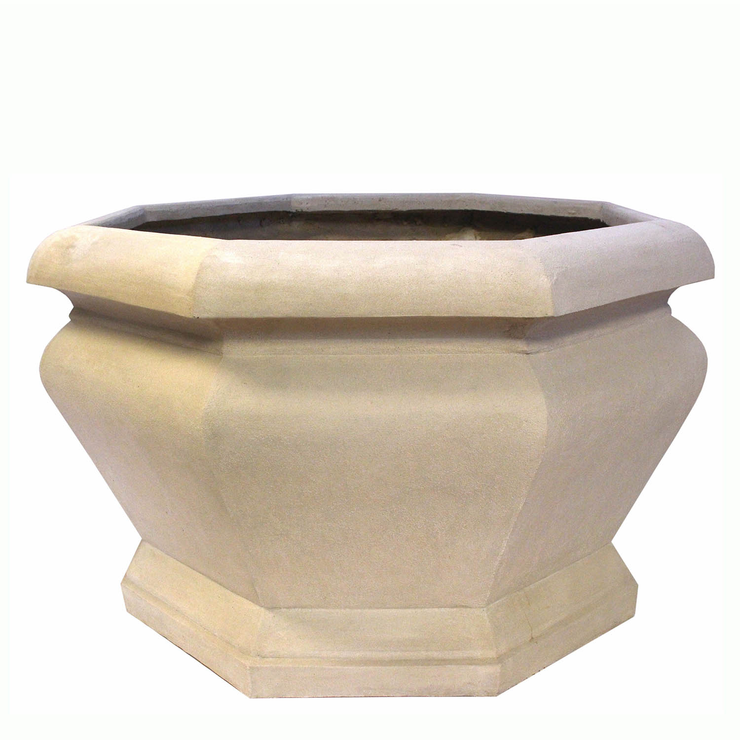 Superb-quality Jardienere Large Octagonal Cast Limestone Planter Product Photo