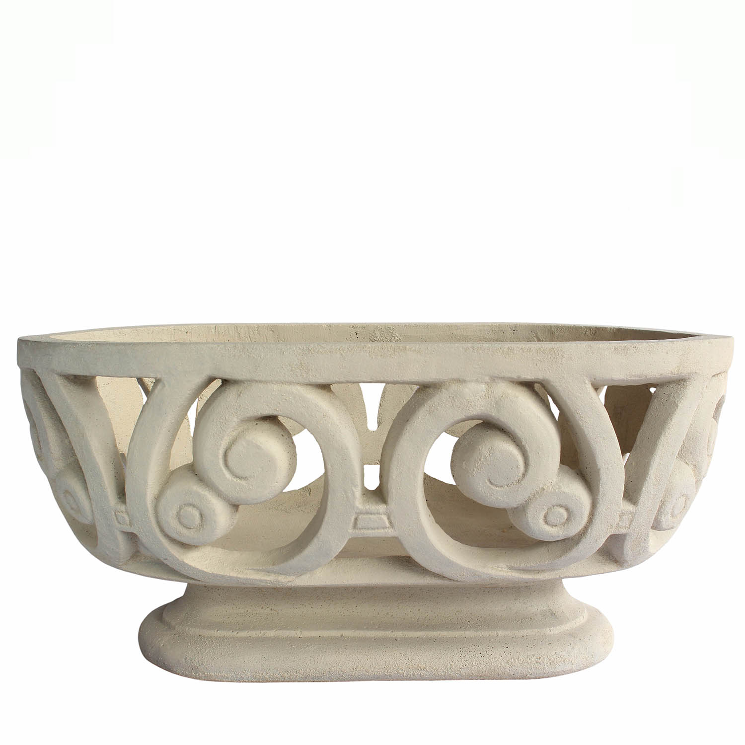 Choose Milano Oval Cast Limestone Planter 1 2211