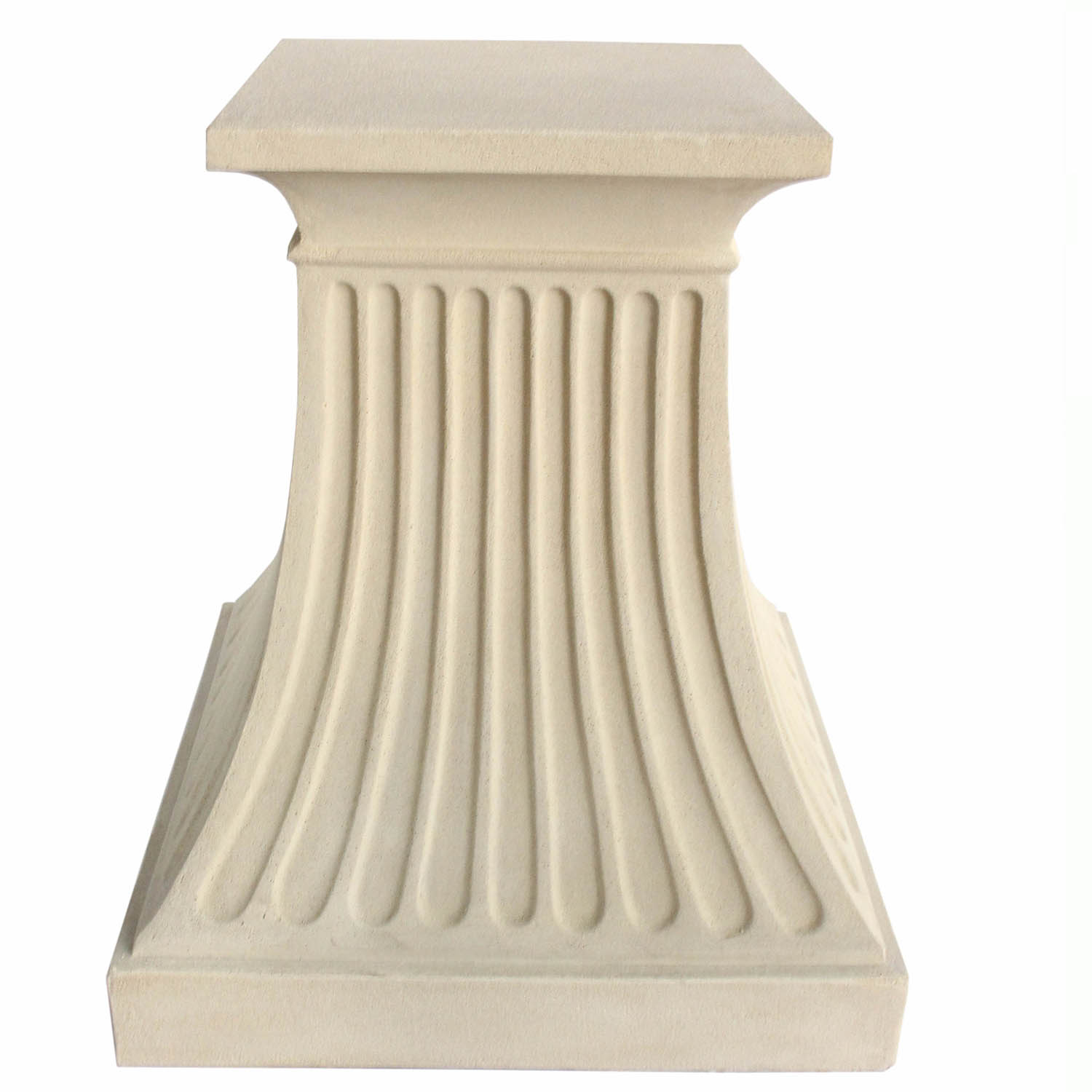 One of a kind Fluted Cast Limestone Pedestal Product Photo