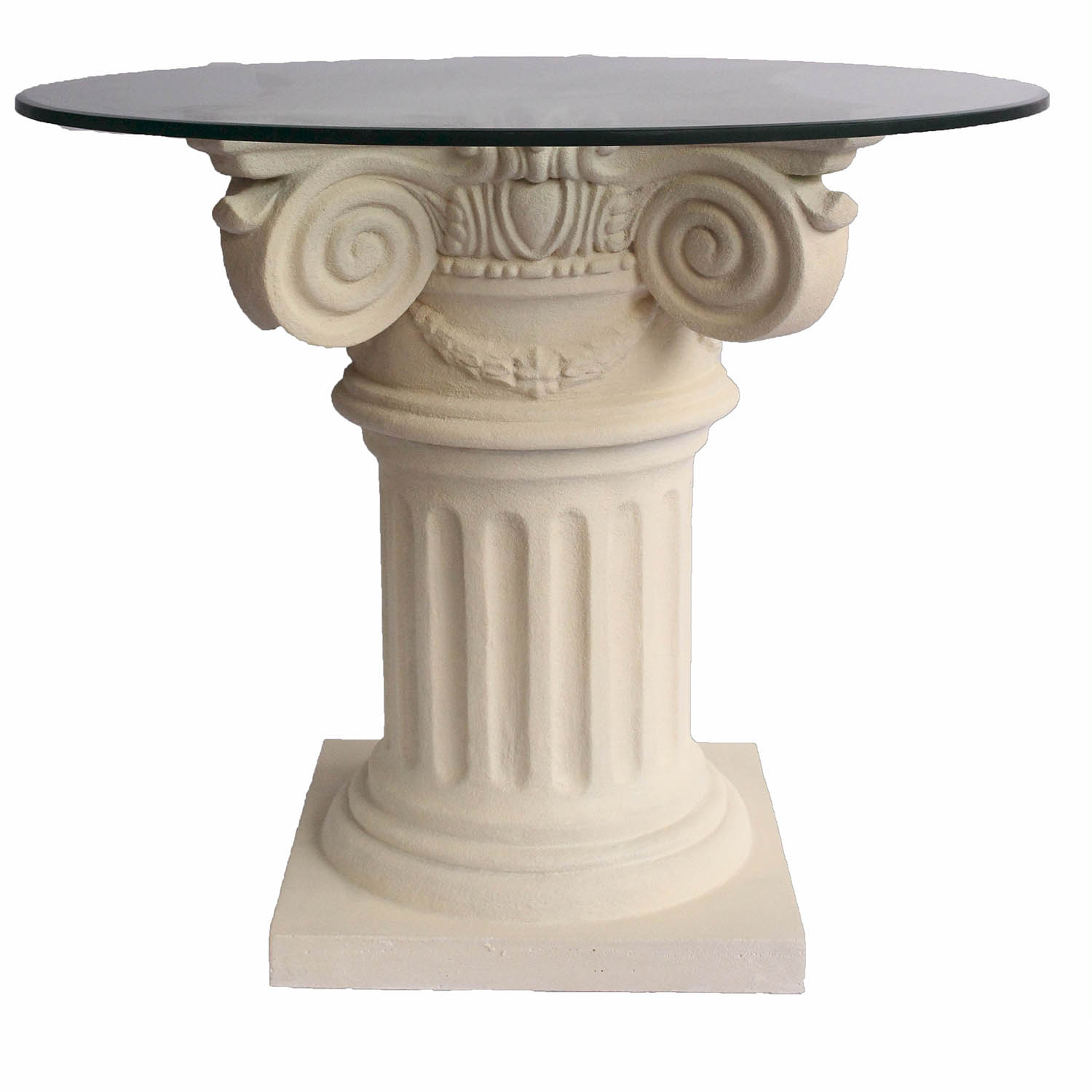 Choose Florence Cast Limestone Dining Glass Top Table 5 174