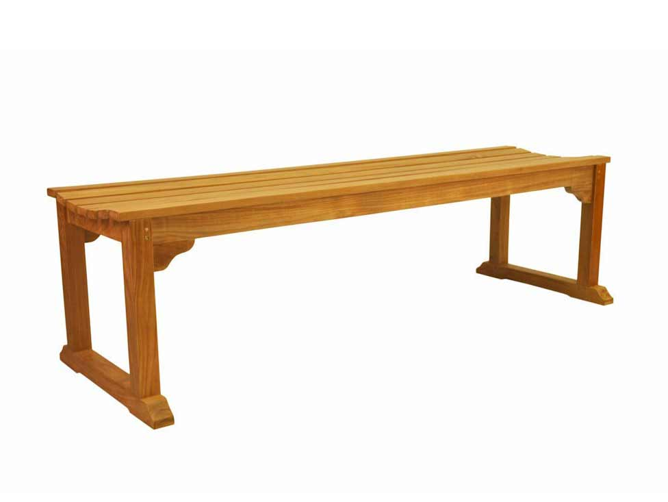Impressive Teak Mason Seater Backless Bench Product Photo