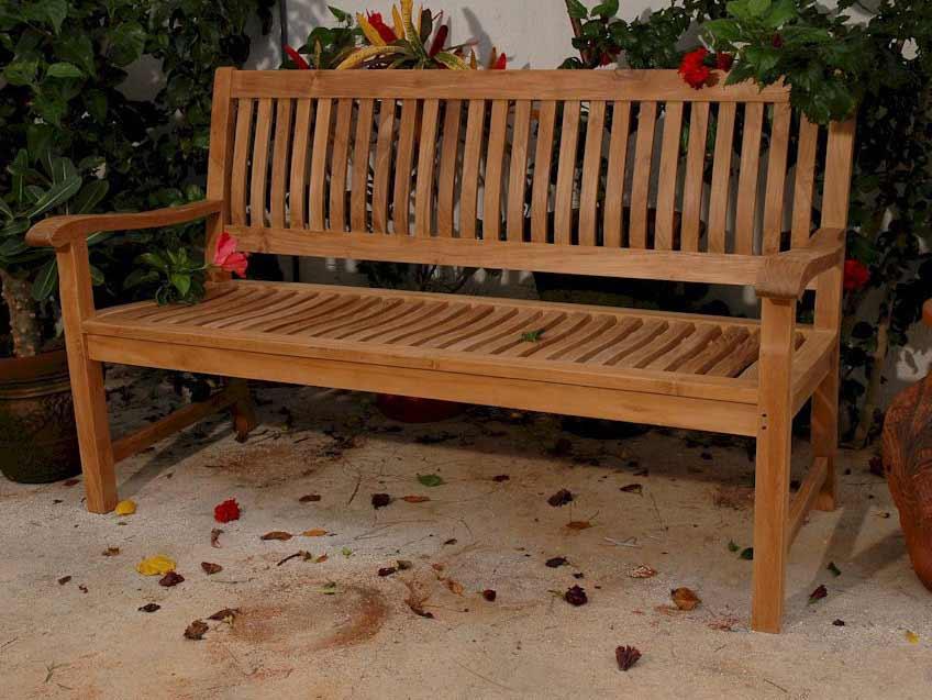 Serious Teak Del Amo Seater Bench Product Photo