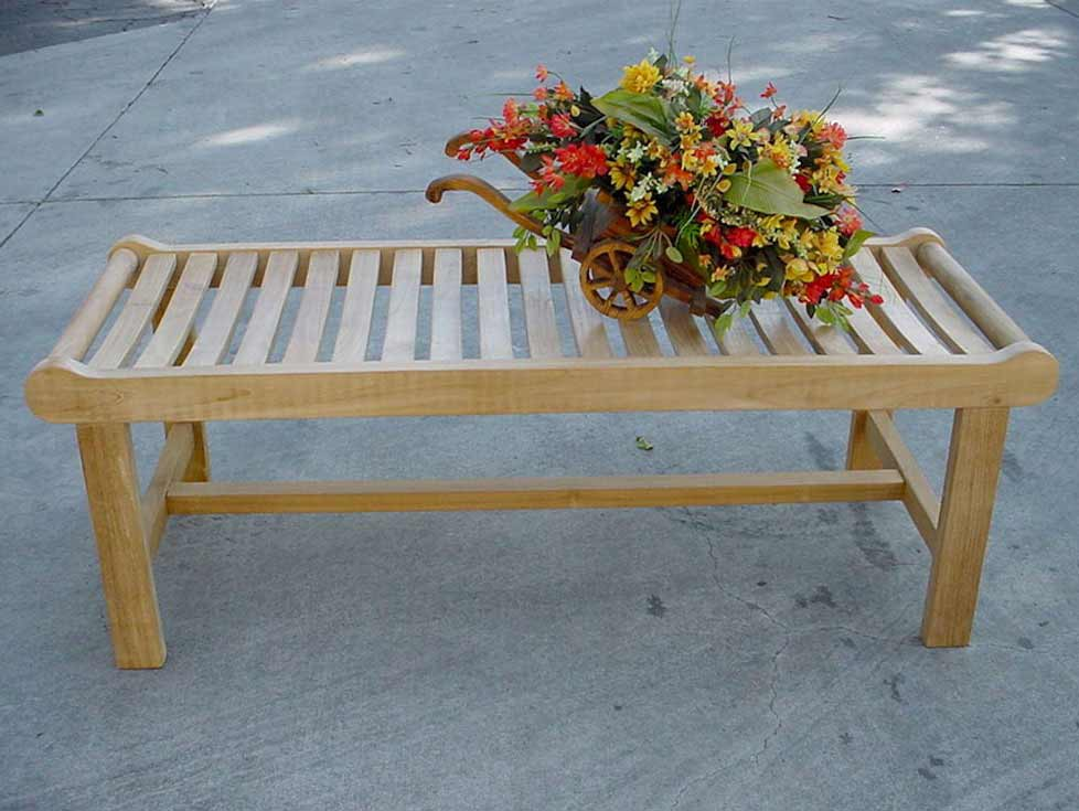 Info about Teak Cambridge Seater Backless Bench 19 2261