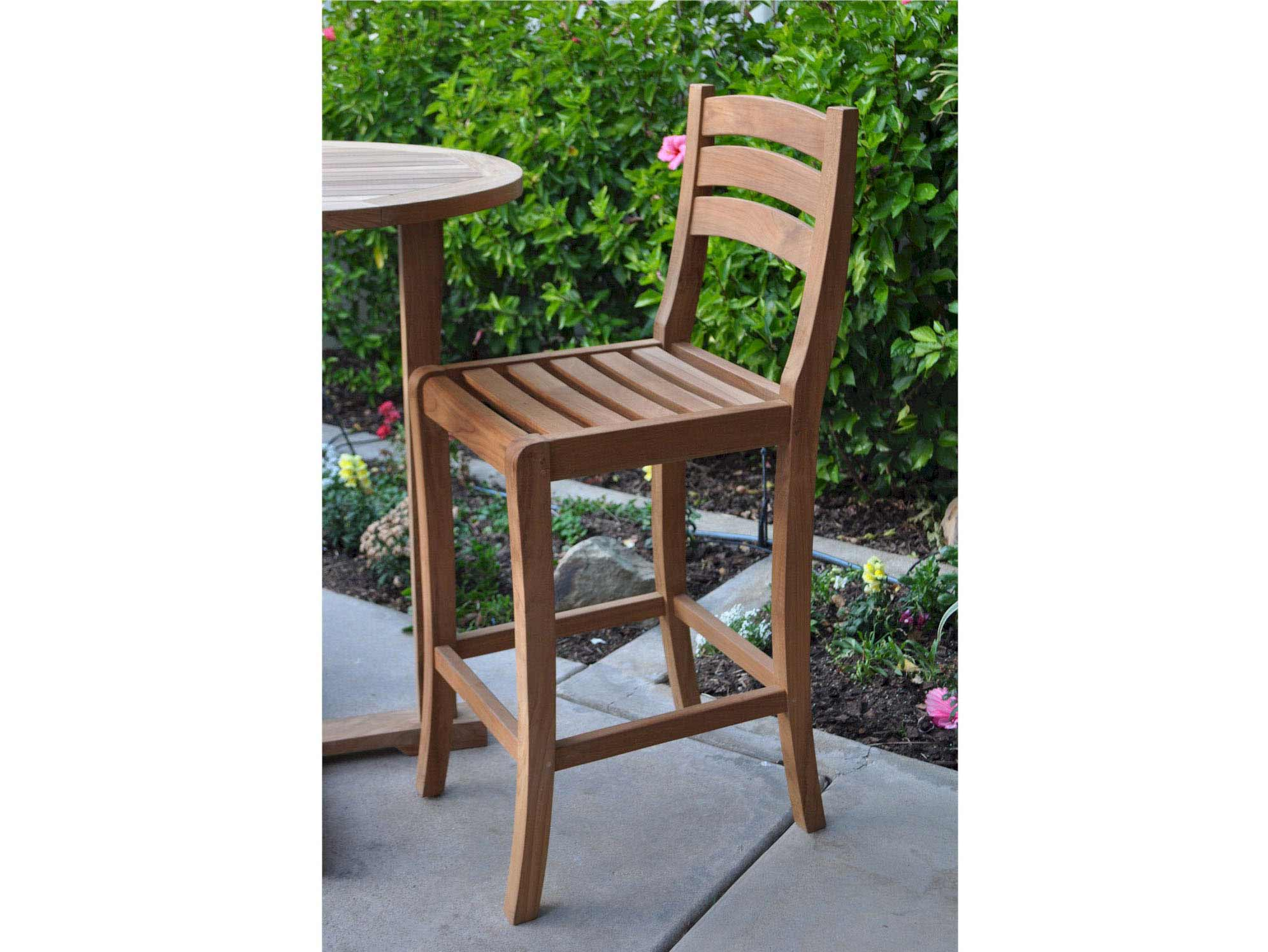 Check out the Teak Mandalay Bar Chair Product Photo