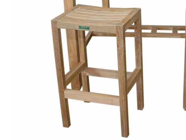 Buy Teak Montego Backless Bar Chair Product Photo