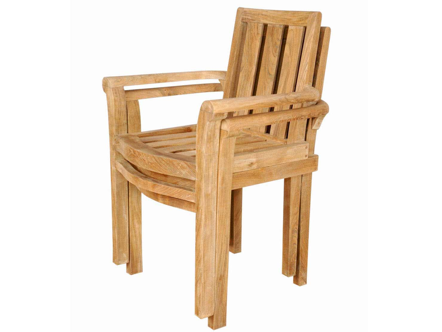 Anderson Teak Classic Stackable Arm Chair Set Of 4 Chs