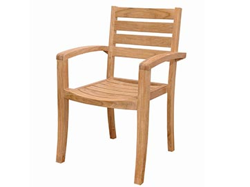 Anderson Teak Catalina Stackable Arm Chair Set of 4