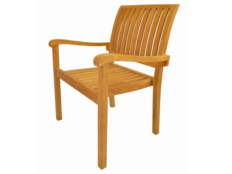 Impressive Teak Aspen Stackable Arm Chair  Product Photo