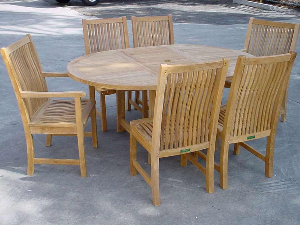 Select Teak-Oval-Extension-Table-Chicago-Side-Arm-Chairs Product Picture 12