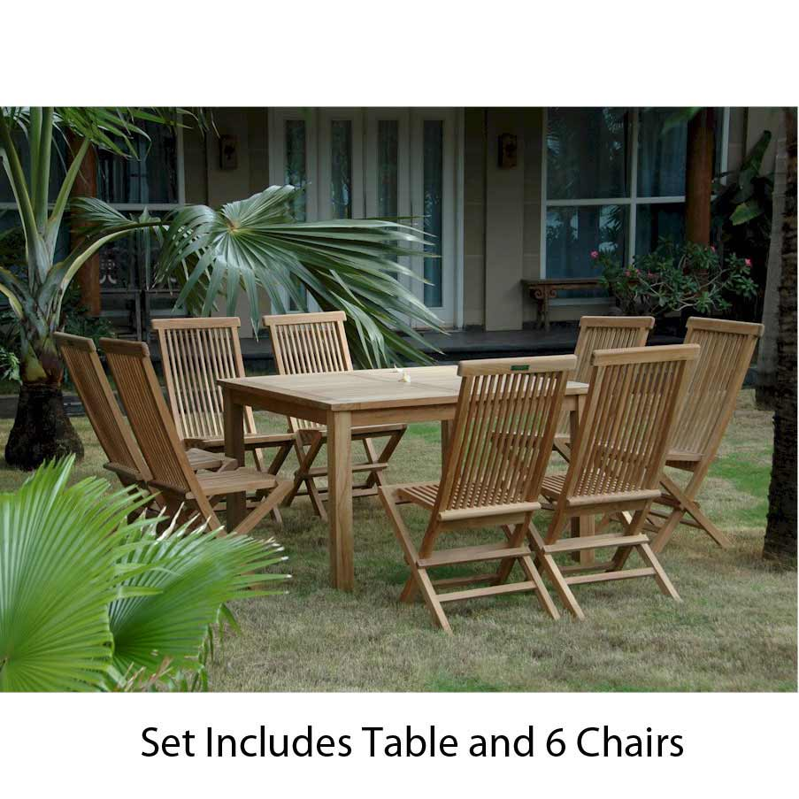 Cheap Teak Square Dining Set Classic Folding Chairs Product Photo
