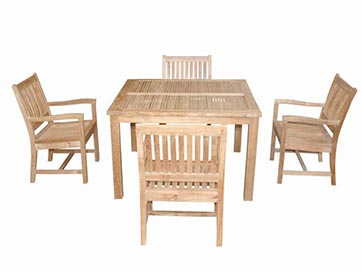 teak outdoor patio furniture set