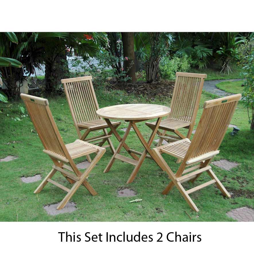 Choose Teak Windsor Classic Folding Picnic Set 5 2175