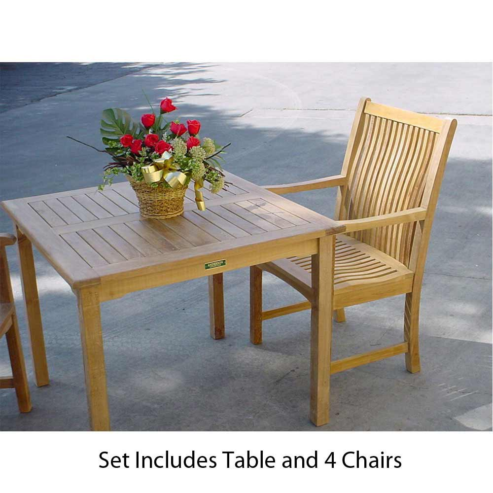 Choose Teak Dining Set Chicago Arm Chairs Bahama Table 2 183
