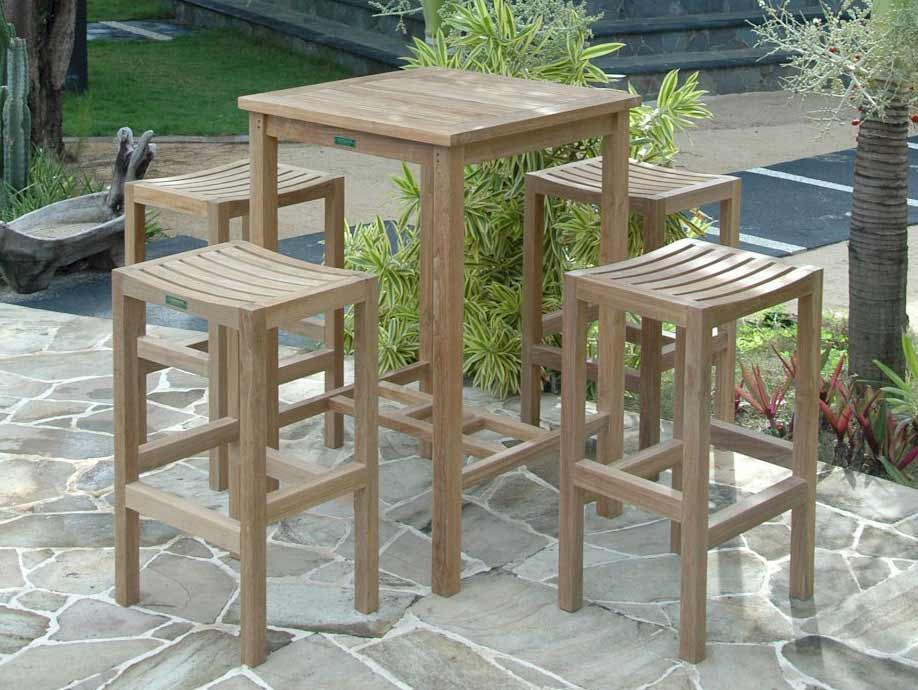 Order Teak Square Bar Table Montego Chairs Product Photo