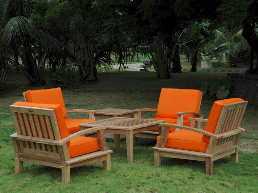 Purchase Teak Brianna Deep Seating Chair Set Product Photo