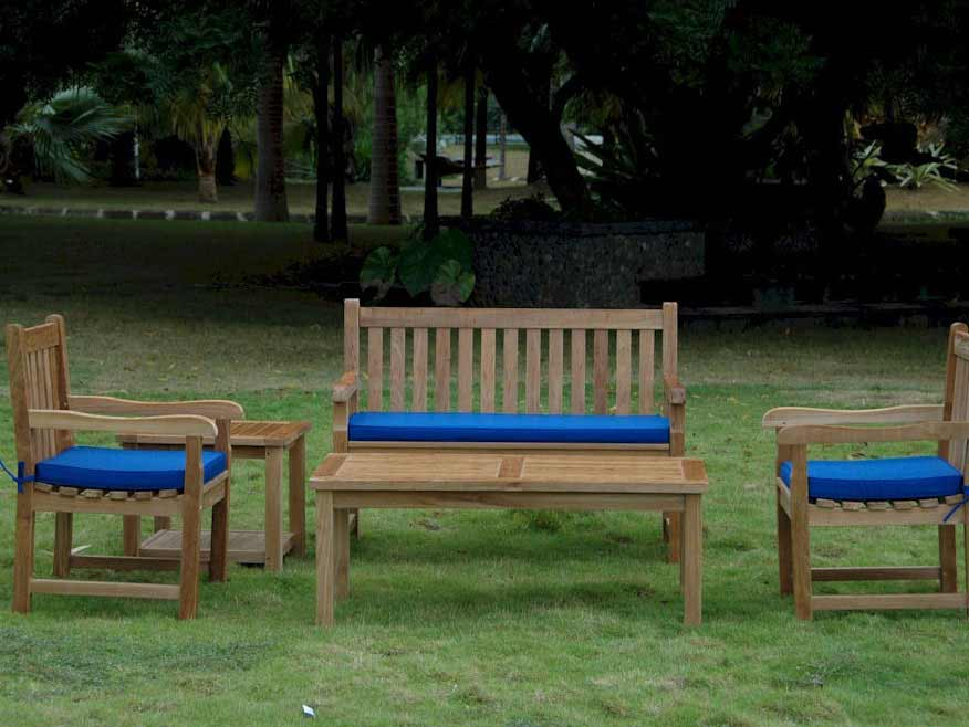 Optimal Teak Classic Seating Set Bahama Side Table Product Photo