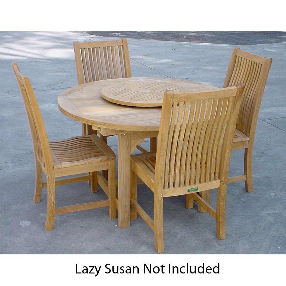 Optimal Teak Bahama Oval Extension Table Chicago Chairs Product Photo