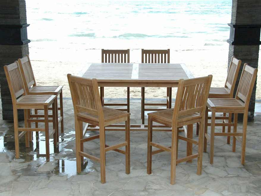 Purchase Teak Windsor Bar Table Avalon Bar Chairs Product Photo