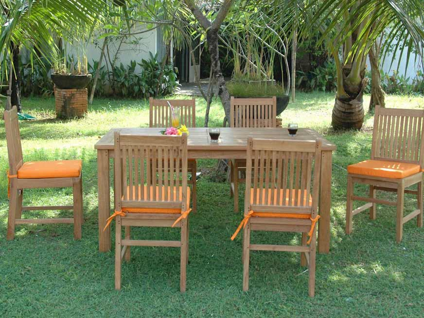 New Teak Montage Saratoga Dining Set Product Photo