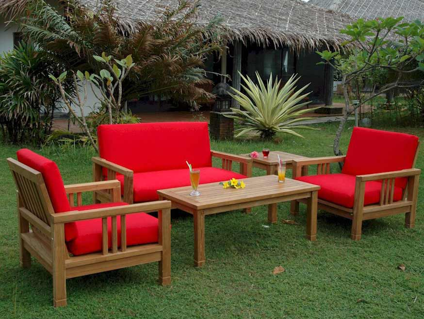 Purchase Teak South Bay Deep Seating Set Love Seat Product Photo