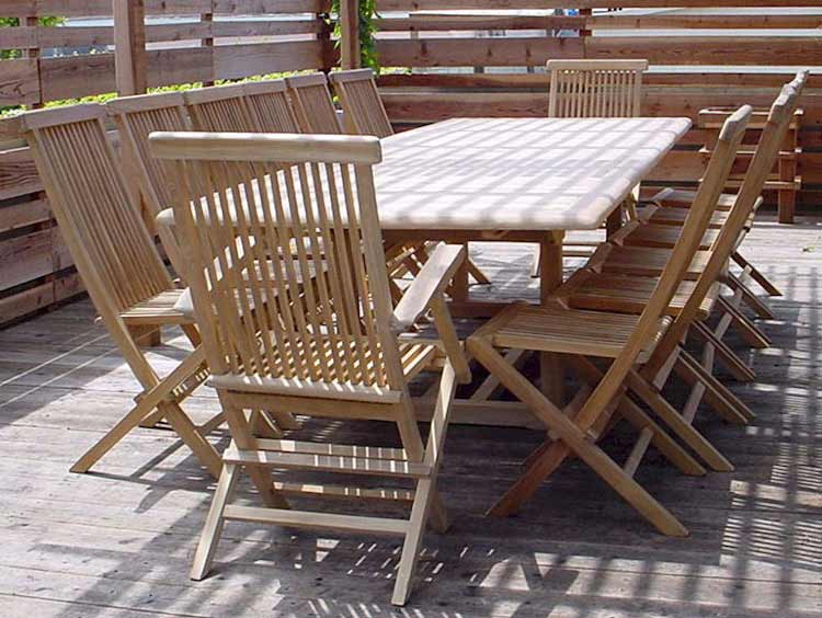 Purchase Teak Extension Valencia Table Classic Folding Chairs Product Photo