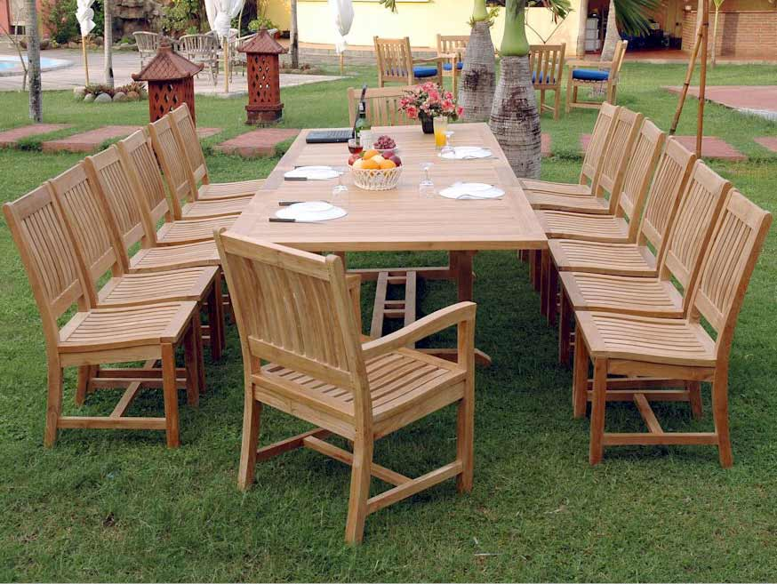 Purchase Teak Extension Valencia Table Rialto Dining Chairs Product Photo