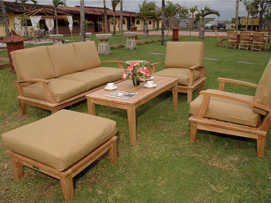 Purchase Teak Brianna Deep Seating Set Sofa Arm Chairs Product Photo