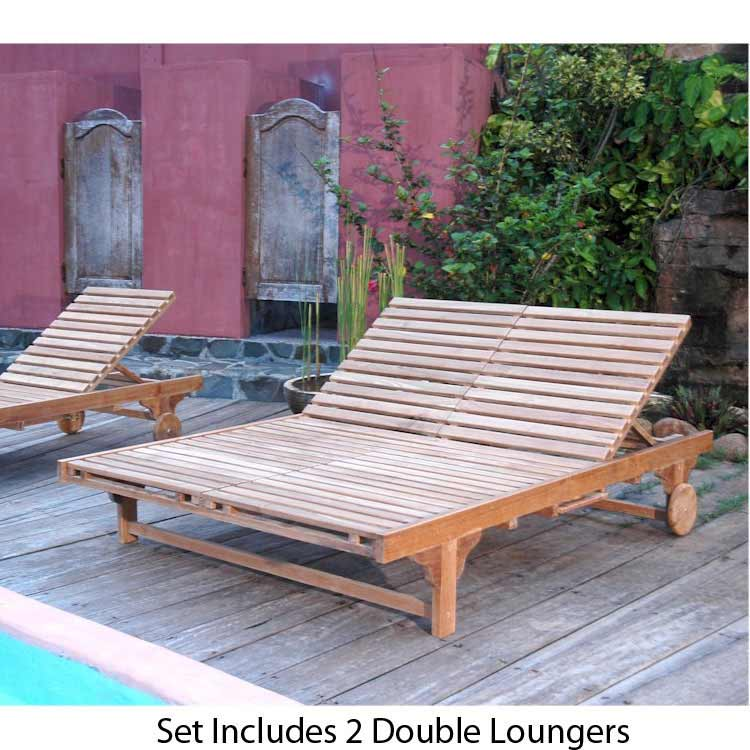 Magnificent Teak Bel Air Double Sun Lounger  Product Photo