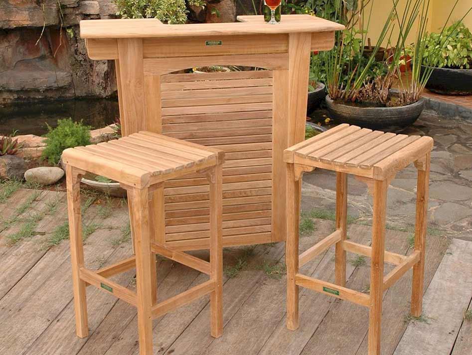 Buy Teak Montego Bar Table Backless Bar Chairs 13 2301