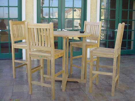 Popular Teak Bahama Bar Table Avalon Bar Chairs Product Photo