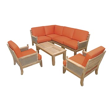 Anderson Teak Luxe Seating Collection With 2 Arm Chairs By Anderson Teak Best Patio Furniture