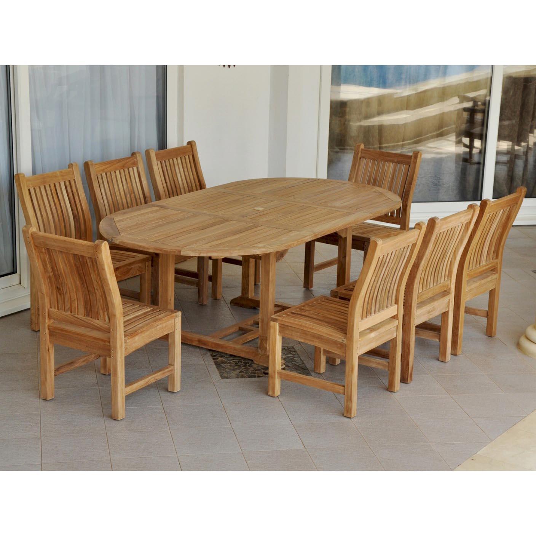 Purchase Teak Bahama Oval Table Sahara Dining Chairs Product Photo