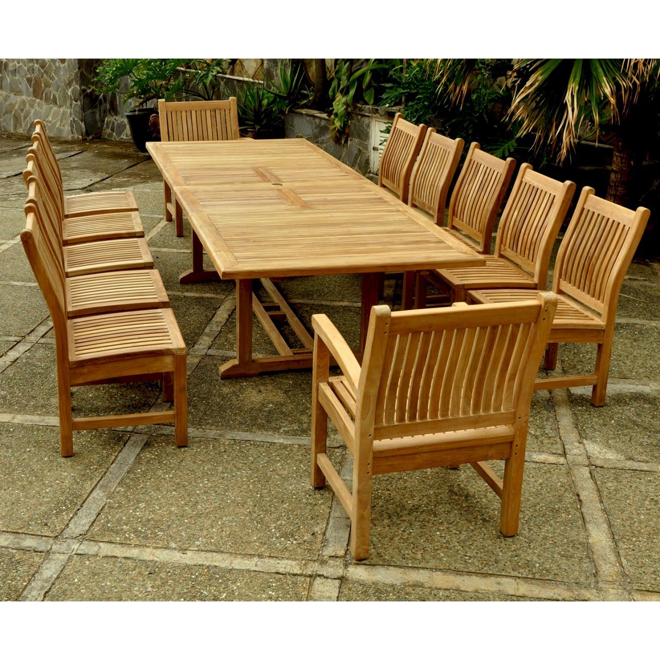 Purchase Teak Valencia Table Sahara Arm Chairs Dining Chairs Product Photo