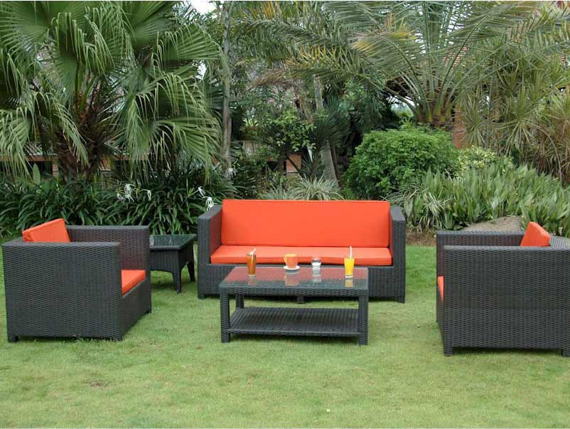 Unique Rattan Patio Coto De Casa Deep Seating Set Product Photo