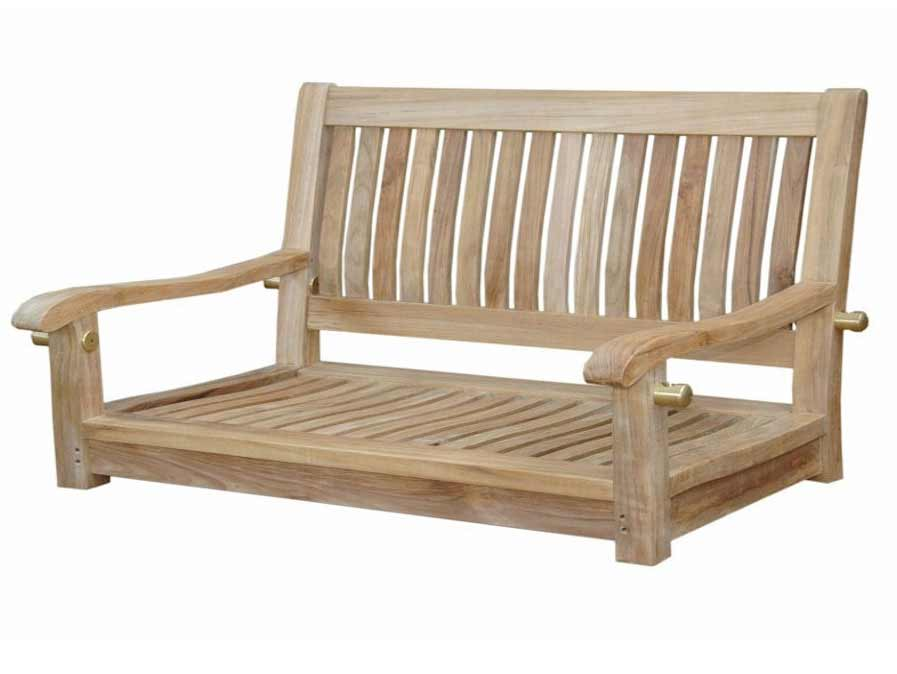 New Teak Del Amo Straight Swing Bench 12 1778