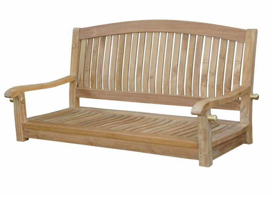 New Teak Del Amo Round Swing Bench 15 1778